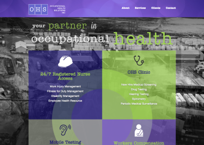 Responsive Website for Occupational Health Company