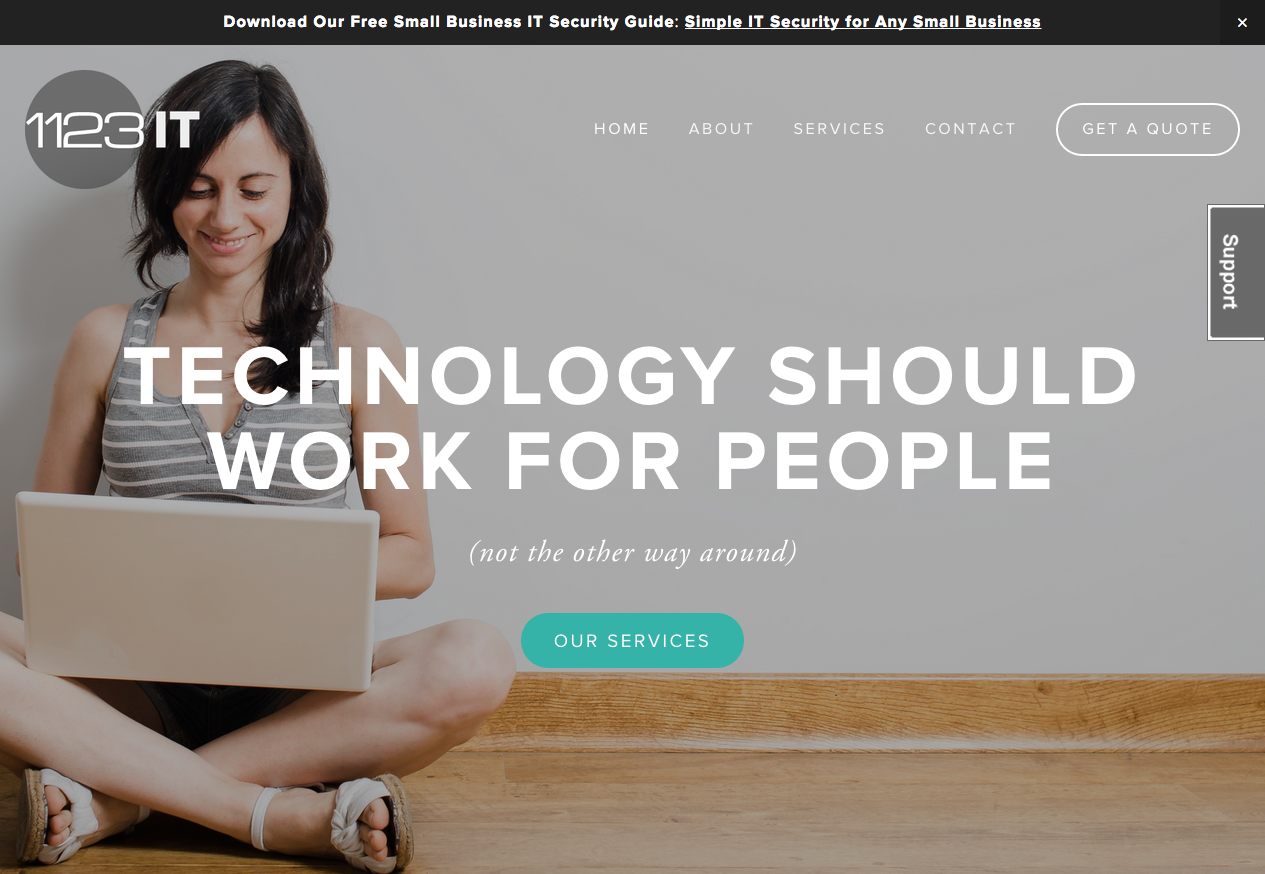 1123IT – Responsive Website for IT Services Company