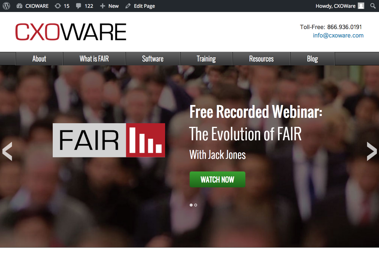 CXOWARE – Landing Page for Enterprise Software Company