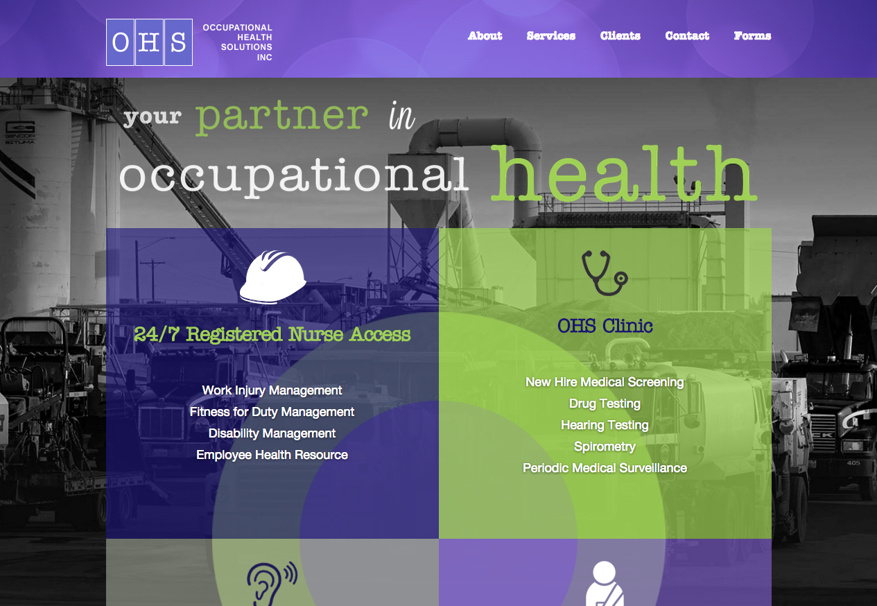 OHS – Responsive Website for Occupational Health Company